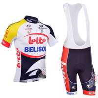 2013 Lotto Belisol Short Sleeve Cycling Jersey / Cycling Shorts / High Quality Cycling Clothing Size:S-XXXL Free Shipping