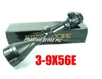 Free shipping 3-9x56E red and green air rifle gun optics sniper hunting scope
