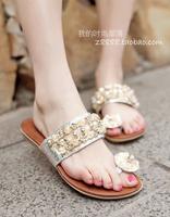 Free Shopping  2014 Flip Slippers  Summer Sandals With Rhinestone Female  Flip Flops Female Fashion Sandals Slippers