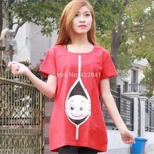 Funny Fitness Cotton Maternity Top Peeking Baby Shirt Cute Pregnancy Short Sleeves Shirts T-shirt For Pregant Women Clothes(China (Mainland))