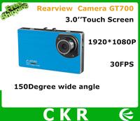 "2014 New design Car DVR GT700 HD 1080P  3 .0"" LCD Touch screen Car black box Recorder with G-sensor Night vision"