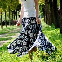 Long Skirt Skirts Womens 2014 Saias Femininas Spring New 2014 Saia Longa Female Fashion Skirt Print A-line Ankle-Length Casual