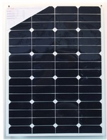 60W Marine use lightweight semi flexible solar panel for yacht .