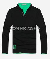 New 2014 spring fall mens long sleeve t shirt,men's v-neck t shirts, Fashion Man t-shirts,casual clothing men,3xl F499