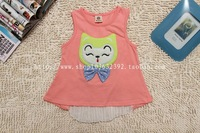2014 2013 summer fluid children's clothing female child doll cat one-piece dress children