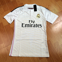 New arrival 14/15 real madrid Home white best quality player version soccer football jersey, real madrid soccer football jersey