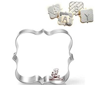 """Free shipping"" Lace message board cookie cutter,sugar paste mould cake decorating mold"