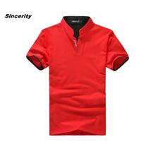 2014 new Mens summer leisure T shirt fashion slim short sleeve V neck T shirt