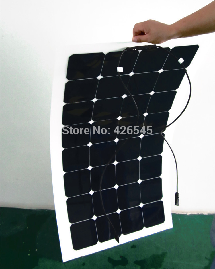 100W Lightweight semi flexible solar pv module for caravan(China (Mainland))