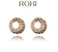 ROXI Hot Sell 18k rose gold Plated Made Genuine Austrian Crystals Stud earrings for women High  fashion earrings Wholesale