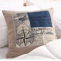 45x45 Super Quality  India Cotton  Cushion Cover  Brown back pillowcase Scenic  pillow cover  heavy