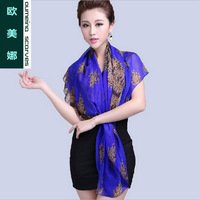 Oumeina Women's  silk Square Two tones plain dyed solid color big size square scarf 100% silk fabric   LJD-S025