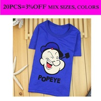 Popeye shirt boy royal blue shirts 1pcs selling summer shirt