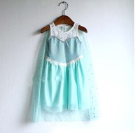 new 2014 baby girl frozen dress baby & kids summer dresses sleeveless blue kid girls dress cute kid clothing,children 's wear