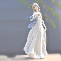 on sale!! A quiet and modest maiden, ceramic crafts,procelain decor,Lady, your love's the only love I need, wedding gift ~