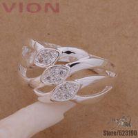 AR166 925 sterling silver ring, 925 silver fashion jewelry, Three line crystal Mosaic /dyrampya fldaocka