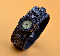 New arrival! Black volcanic leather ladies watch vintage watches fashion watches