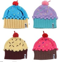 NEFF manual embroidery lovely knitting women  ball cap  ice cream cake of wool hat    free  shipping