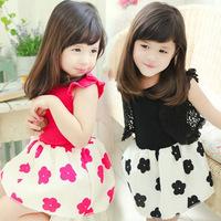 Girl Clothes Vest Girls Summer 2014  Korean Foreign Trade Chiffon Girl Princess Dress