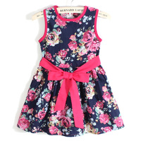 2014 children's wear the new summer dresses of the girls Han edition children's princess dress The mian mian cloth child dress
