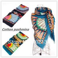 Cotton  feather design    shawls /scarf/pashmina/muslim hijab, free shipping 696