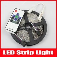 led strip light RGB 5050 300leds/5M/roll+ 10key RF remote mini controller NO-Waterproof free shipping