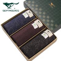 Panties male SEPTWOLVES briefs gift box set mid waist briefs male panties underwear shorts