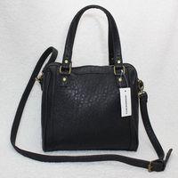 C&A Clockhouse fashion style zipper black PU crocodile printed pattern handbag message bag shoulder bags for men women