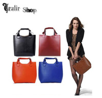 2014 Ladies Celebrity Vintage PU Leather Hobo Shoulder Tote Retro Handbag large Bag Shopper Bag Women Handbag 4 Color