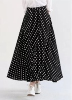 2014 Summer Women's Elegant Bohemian Vintage Retro High Waist Polka Dot Floor Length Long Skirts