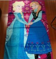 Retail 2014 new baby beach towel blanket 100% cotton cartoon graphic patterns frozen princess carters receiving blankets 001