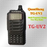 QS TG-UV2 Dual Band walkie talkie Two-way radio VHF136-174Mhz/UHF400-470  Military Level two way radio LCD