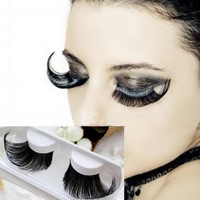 1 pair/pack Exaggeration winged voluminous individual thick false artificial eyelashes.18.17769.Free shipping