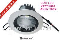 12W COB LED down light 4inch COB LED downlight hot sales,12W la MAZORCA LED abajo COB 4inch luz LED downlight ventas calientes