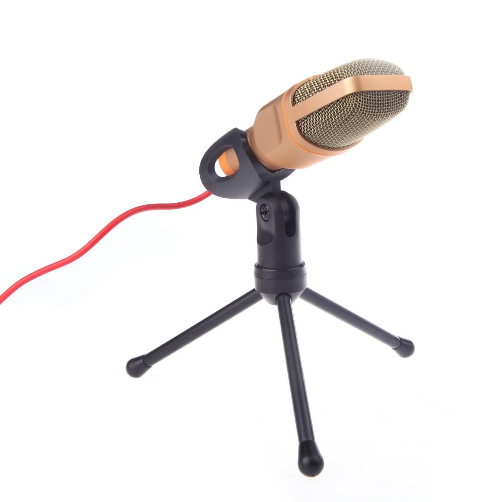 Высокое качество проводная стерео конденсаторный микрофон с держателем клип для общения петь караоке портативных пк sf-666
