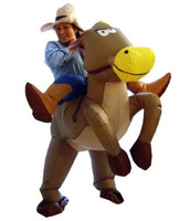 Adult lucky little brown horse inflatable costume Clothes horse transport lucky animals and dance activities