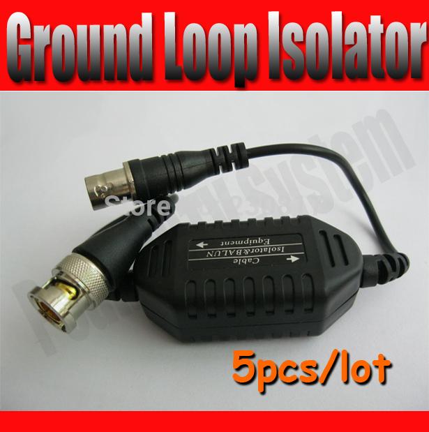 5pcs CCTV Camera Video Balun Ground Loop Isolator Coaxial Cable BNC Balun Connector(China (Mainland))