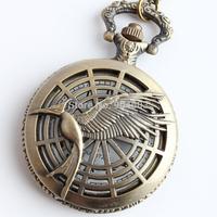 Vintage Bronze  Pocket Watch Necklace, 12pcs/lot, free ship, 4.6cm