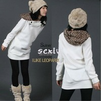 HOT SALE Women's Autumn Hoody Leopard Sweatshirt Top Outerwear Parka Coats 4SIZE