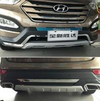 2013 Hyundai Santa Fe ix45 High quality plastic ABS Chrome Front+Rear bumper cover trim