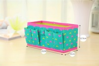 Hot Non-woven Fabric Folding Love Heart Cosmetics Storage Box Desktop Organizer Case For Jewelry Toys Storage Bins 4 Colors