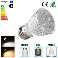 10pcs/lot High power CREE Led Lamp non-dimmable GU10 E27 MR16 4W 5W Led spot Light Spotlight led bulb downlight lighting