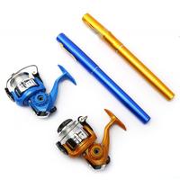 Portable  Fishing Rod Set  Aluminum   Fishing Rod  Pen  Fishing Pole 1M,