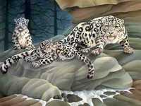 Diamond painting a 3D5D drill cross stitch resin drill three-dimensional animal new DIY leopard leopard