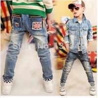 Kids Denim Pants Children Jeans Size 100-140 cm 2014 Fashion Elastic Waist Cool Boys Casual Trousers K912811