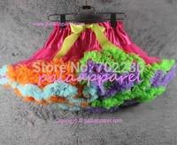 Baby tutu skirts hot pink rainbow fluffy pettiskirts patchwork girls skirts summer