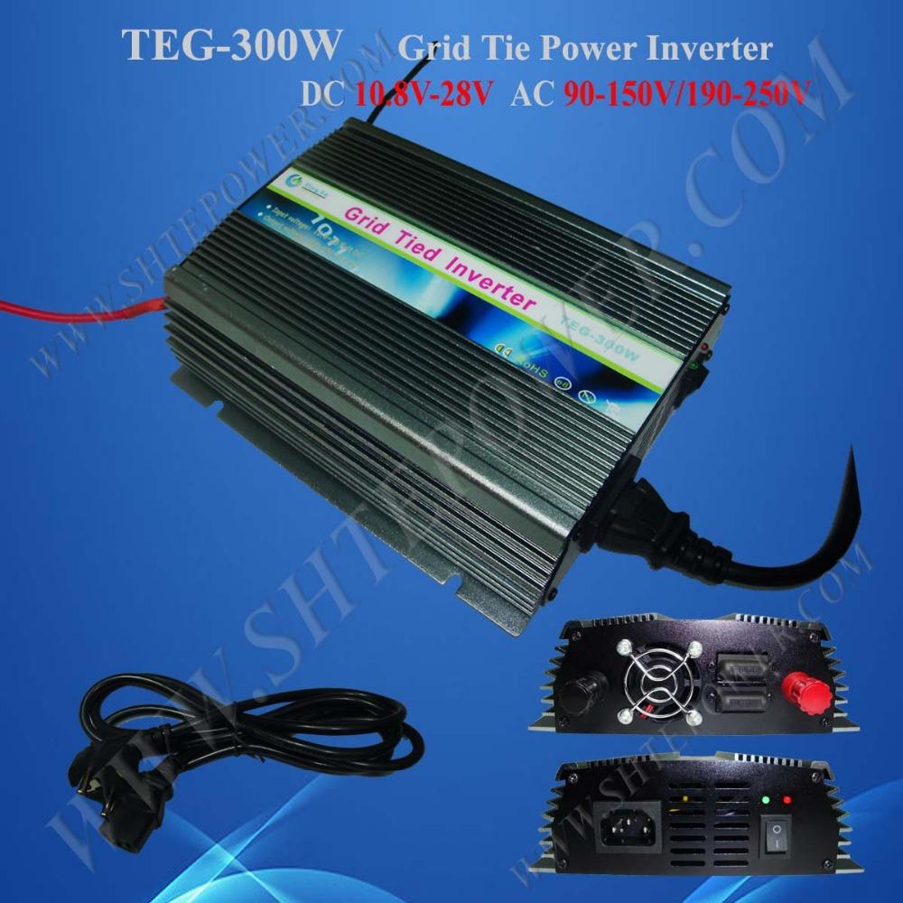 DC to AC Micro Solar Grid Tie Power Inverter 10.8V-28V to 90V-130V/190V-260V 300W(China (Mainland))
