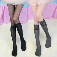 6 pairs/lot Wholesale cheap 2014 summer fashion new designer tutuanna style fake knee-high transparent nylon tights for girls