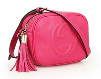 2014 Fashion Genuine Leather Bag Cowhide Women's Tassel Bag Shoulder Bag Vintage Handbag 2 Colors Gift