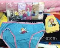 Free shipping 6pcs/lot frozen new children panties 2014 hot sell frozen underwear children panties